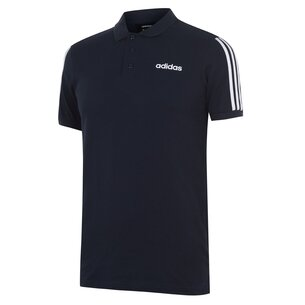 adidas Mens Cotton 3 Stripes Polo Shirt