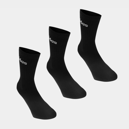 adidas Crew Three Pack Socks Mens