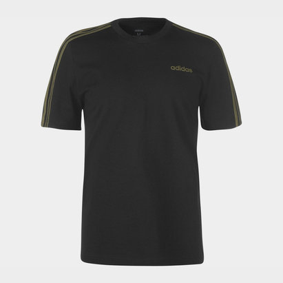 adidas 3 Stripe T Shirt Mens