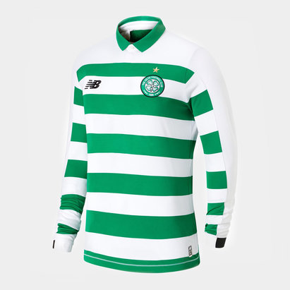 New Balance Celtic 19/20 Kids Home L/S Football Shirt