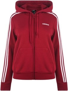 adidas Essential 3 Stripe Zip Hoody Ladies