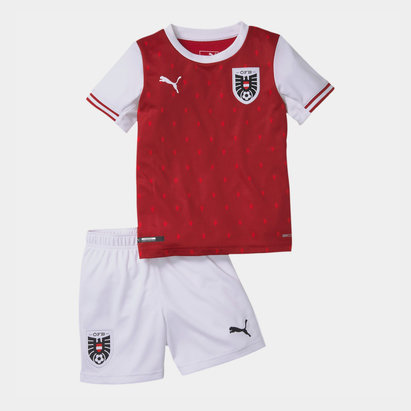 Puma Austria 2020 Home Mini Kids Football Kit