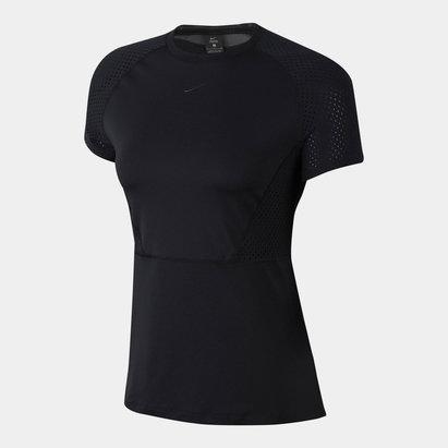 Nike Luxe Mesh T Shirt Ladies