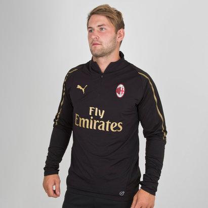 Puma AC Milan 18/19 Players 1/4 Zip Football Training Top
