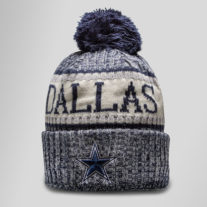 New Era NFL Dallas Cowboys Sideline Bobble Knit Hat