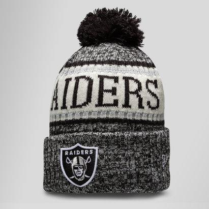 New Era NFL Oakland Raiders Sideline Bobble Knit Hat