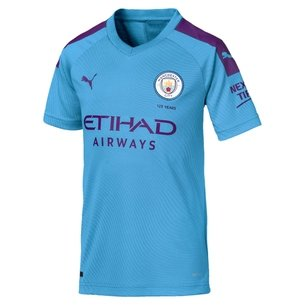 Puma Manchester City 19/20 Kids Home S/S Replica Football Shirt