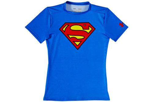 HeatGear Junior Alter Ego Compression Short Sleeve Top - Superman