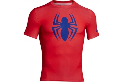 HeatGear Junior Alter Ego Compression Short Sleeve Top - Spiderman
