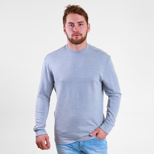 French Terry Marble Melange Crew Sweatshirt